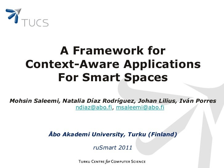 context aware services and applications