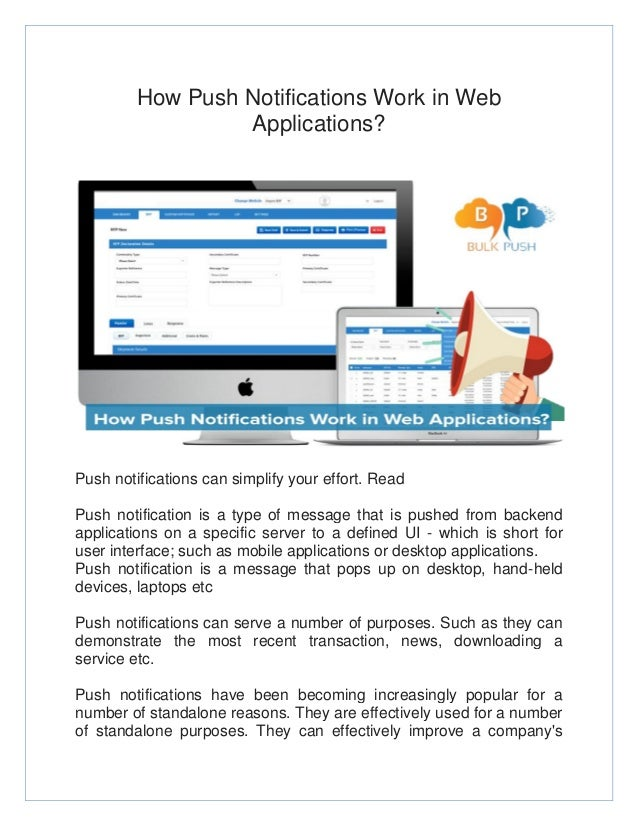 convert website to application with push notification