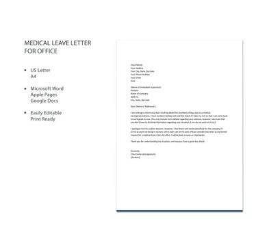 how to write a application for leave in office