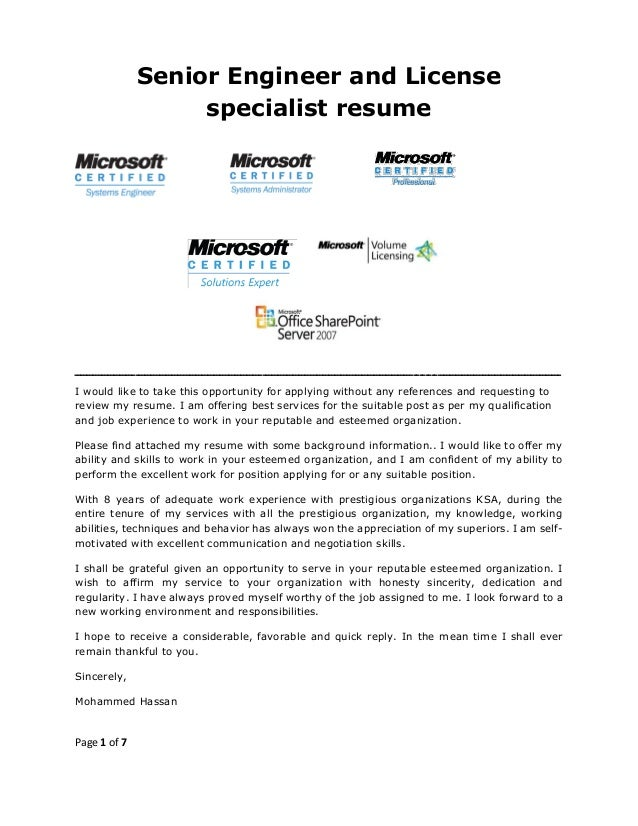 please find attached my resume in application for