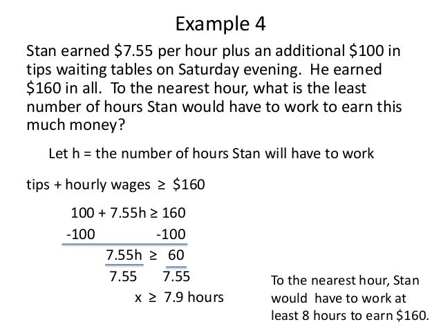 applications of inequalities word problems