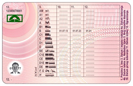 vehicle type in licence application
