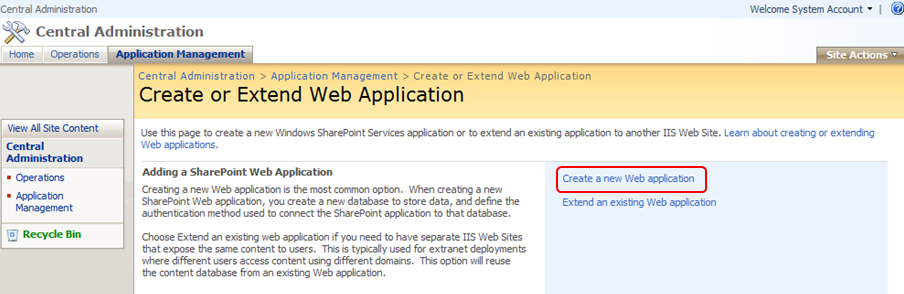 create application and services logs