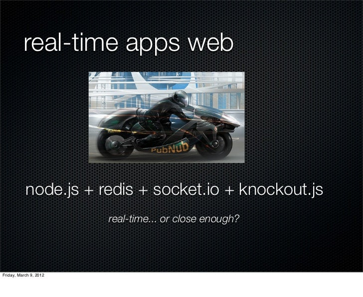 real time application with socket io