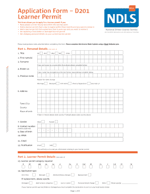 download learner permit application form