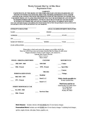 motor vehicle club membership application form richmond motorcycle
