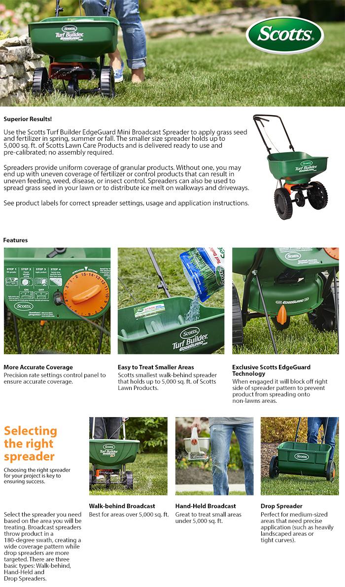 scotts turf builder application instructions