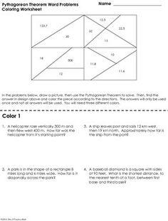 pythagorean theorem application worksheet pdf