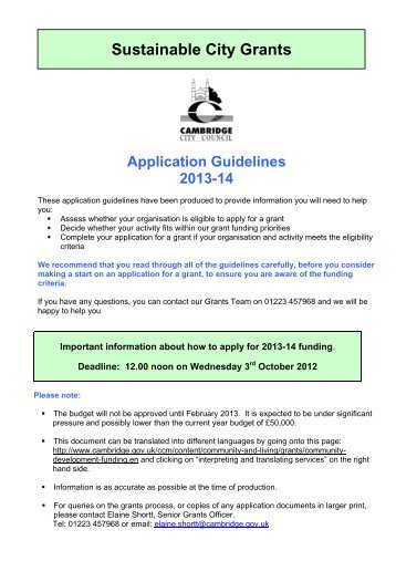 application form aus council grant