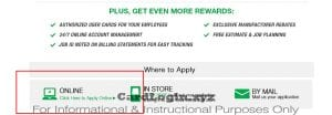 menards credit card application online