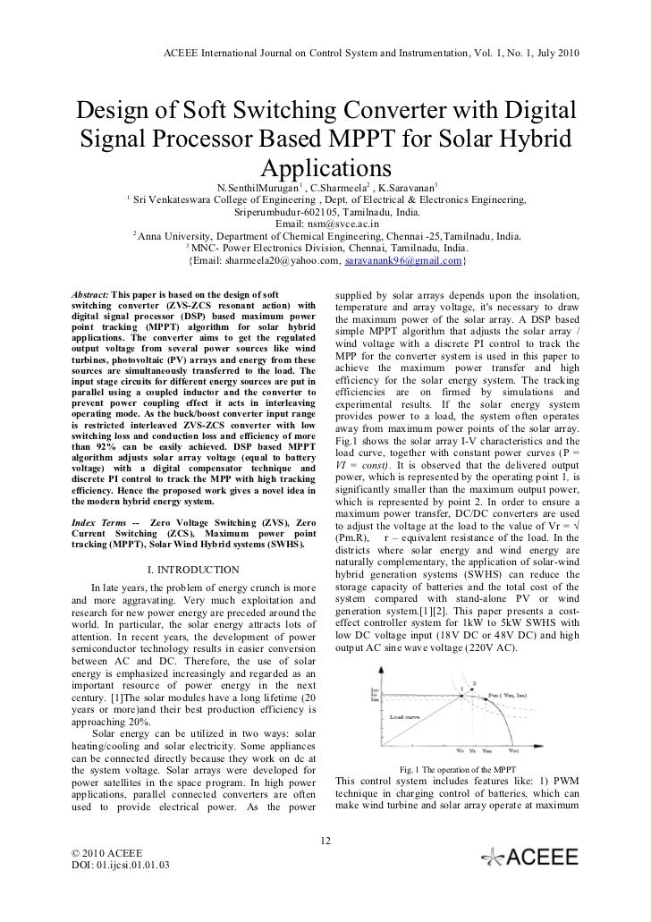 international journal of systems signal control and engineering application