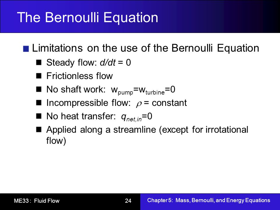 application of steady flow energy equation ppt