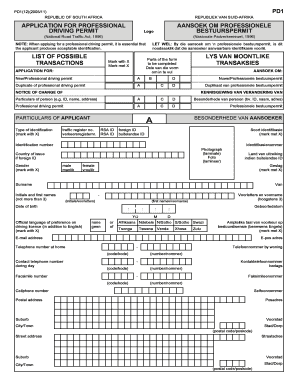 south africa permit application form