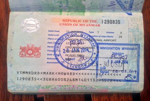 myanmar travel visa application form