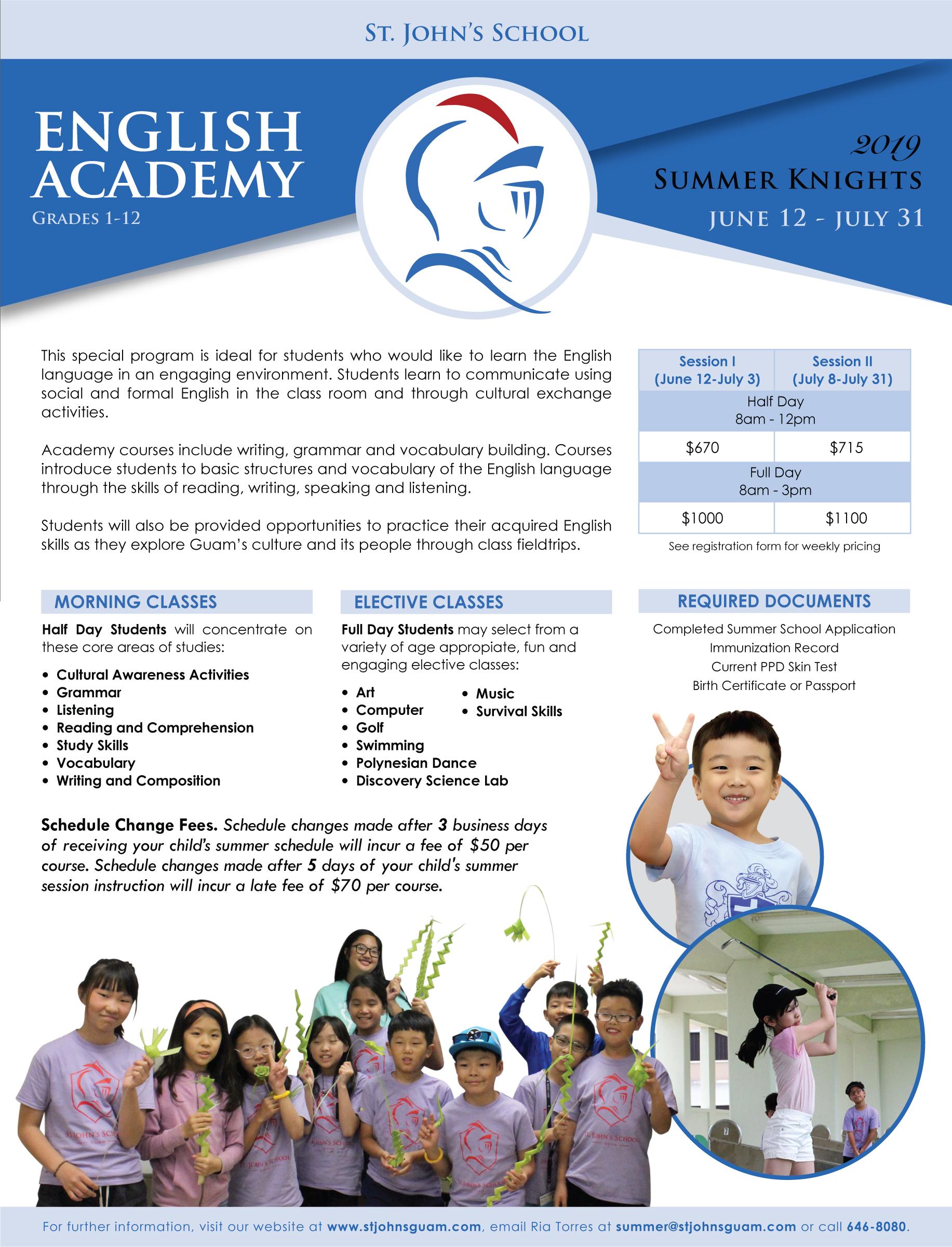 toormina highschool enrichment class applications