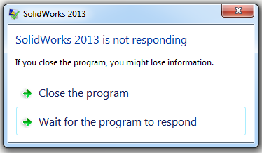 software application is not responding