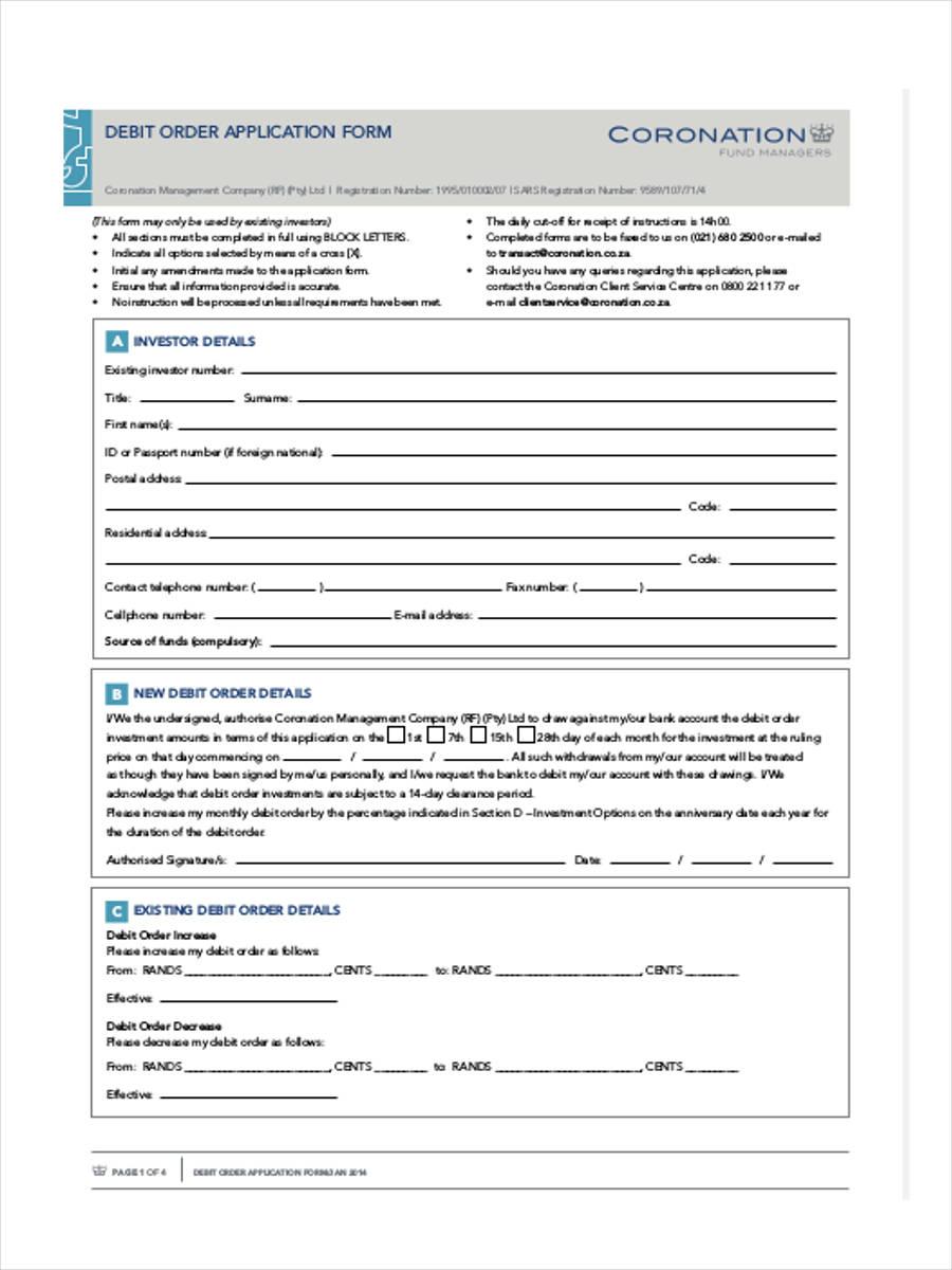 application for a representation order