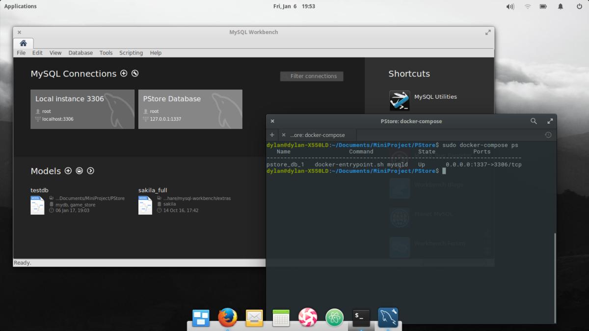 install an application from makefile using docker