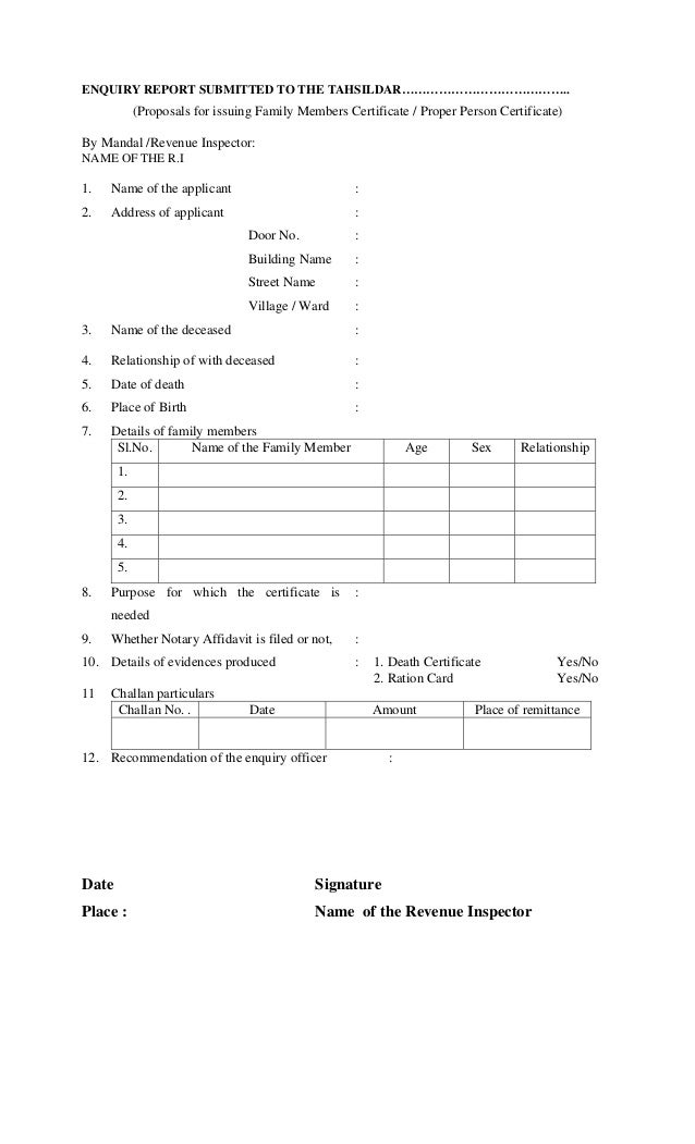application for issuing character certificate