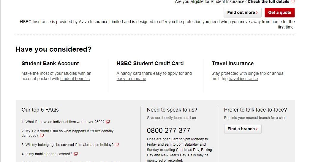 hsbc credit card application email address