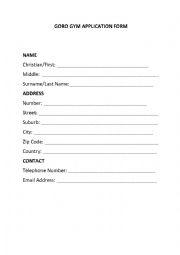 esl elementary application form filling