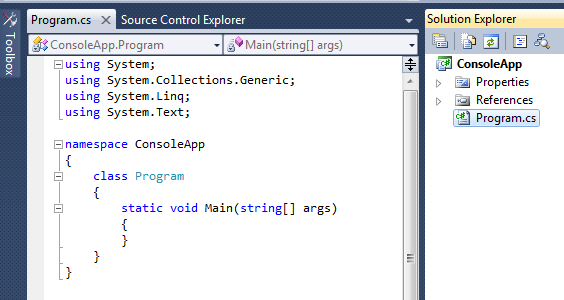 console application with config file