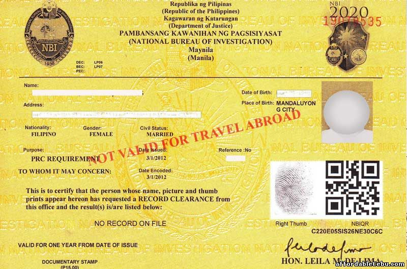 licence number as national identity card in visa application