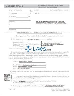 child support application to change assessment