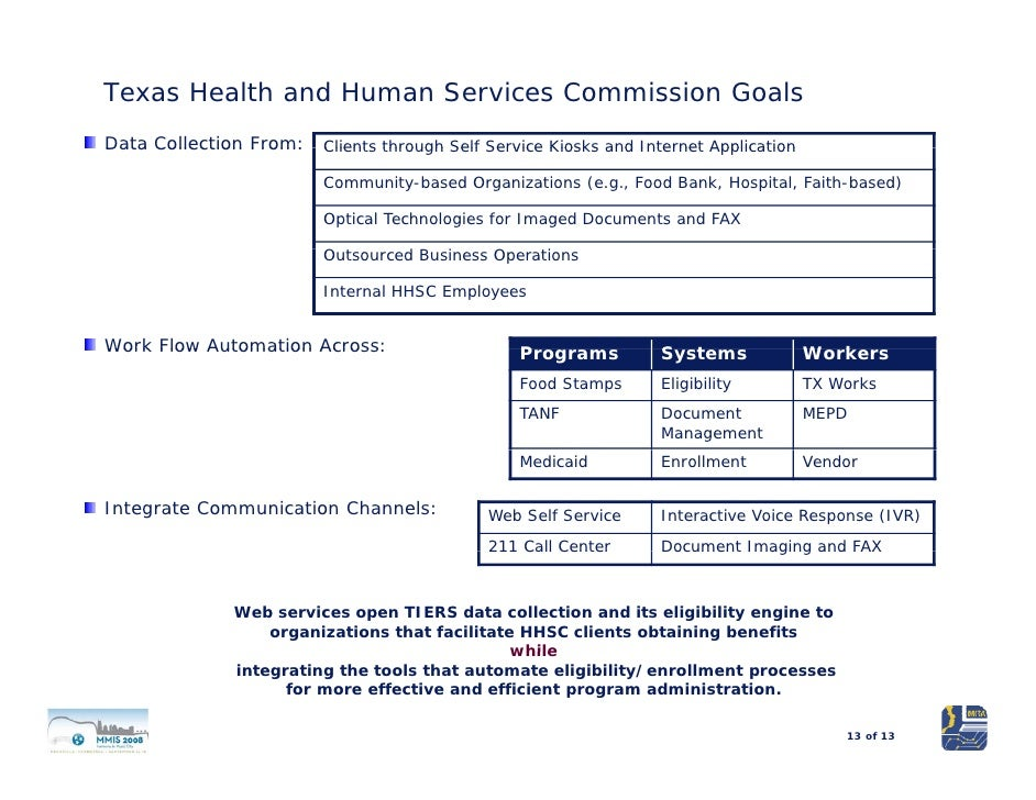 application for benefits texas health and human services commission