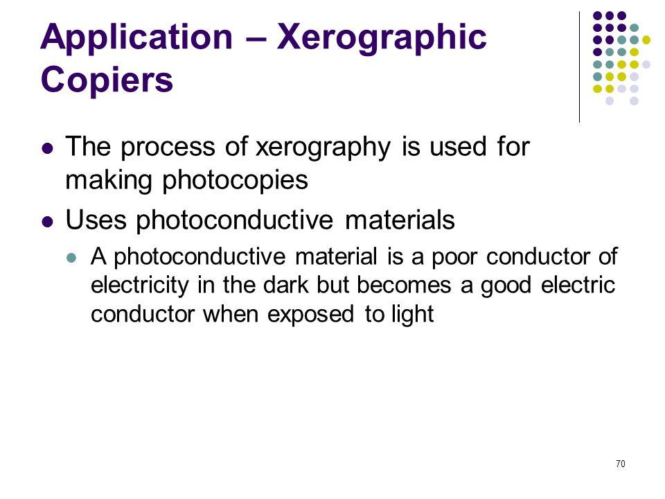 application of electrostatics in xerography