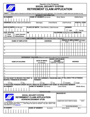 lump sum death payment application