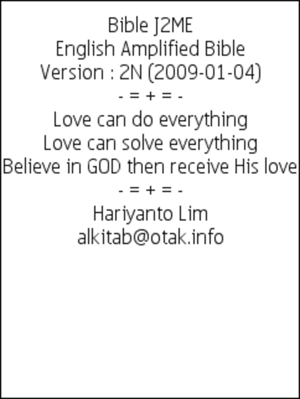 bible application for java phone
