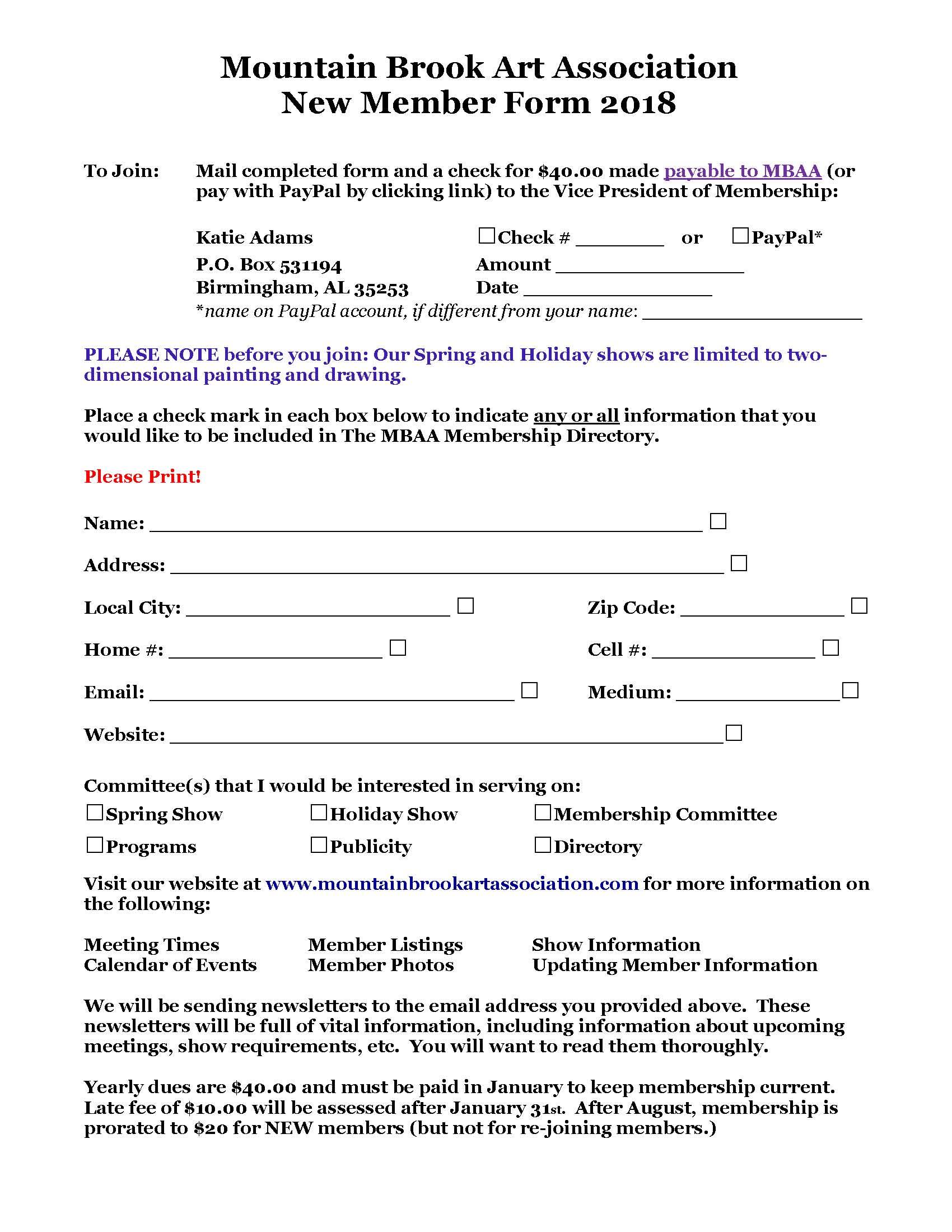 ringwood club membership application forms