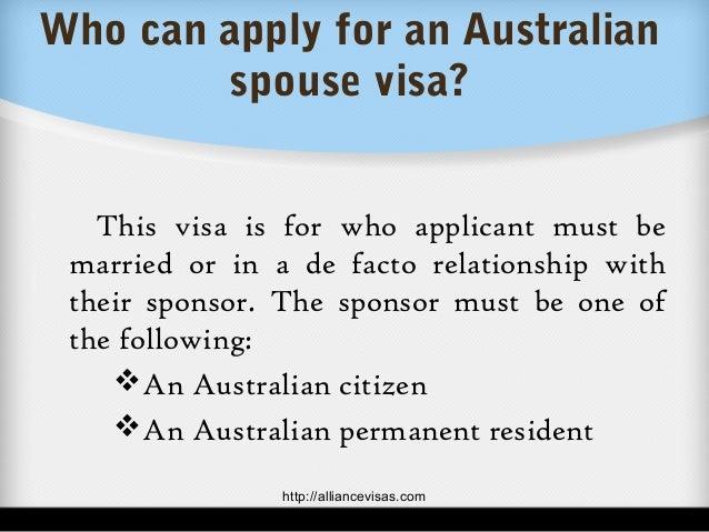 de facto partner visa application australia