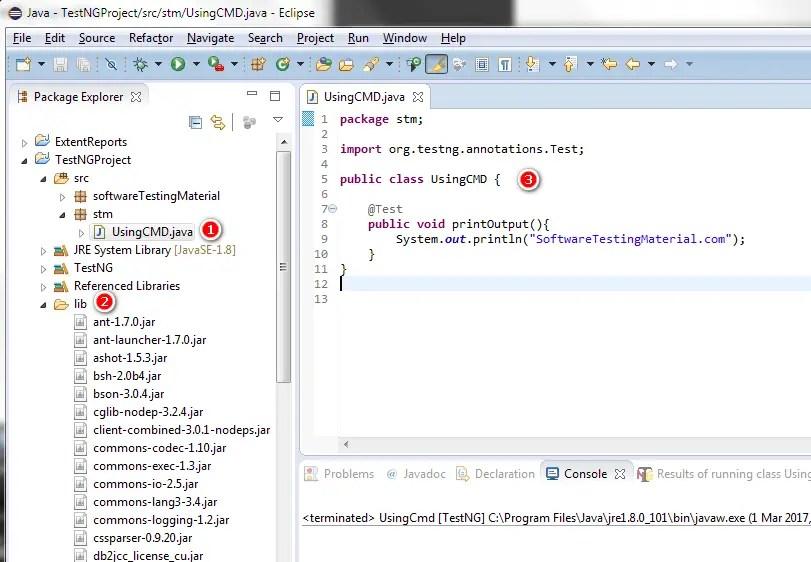 run java application command line