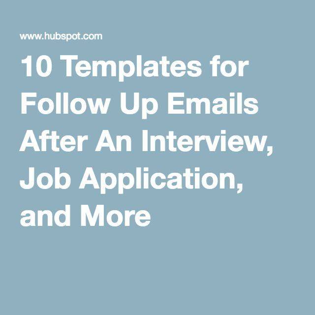 follow up emails after job application