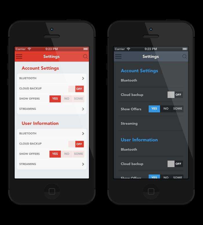 mobile application ui design patterns