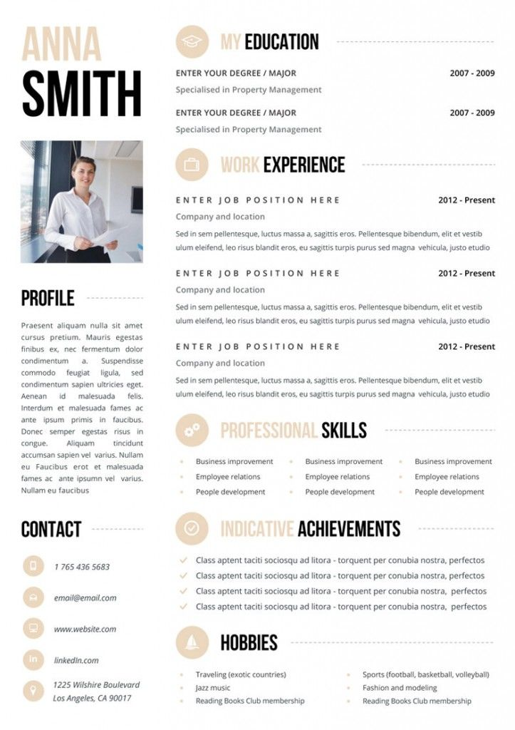 one page statement for job application template