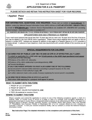 printable passport application form ds 11