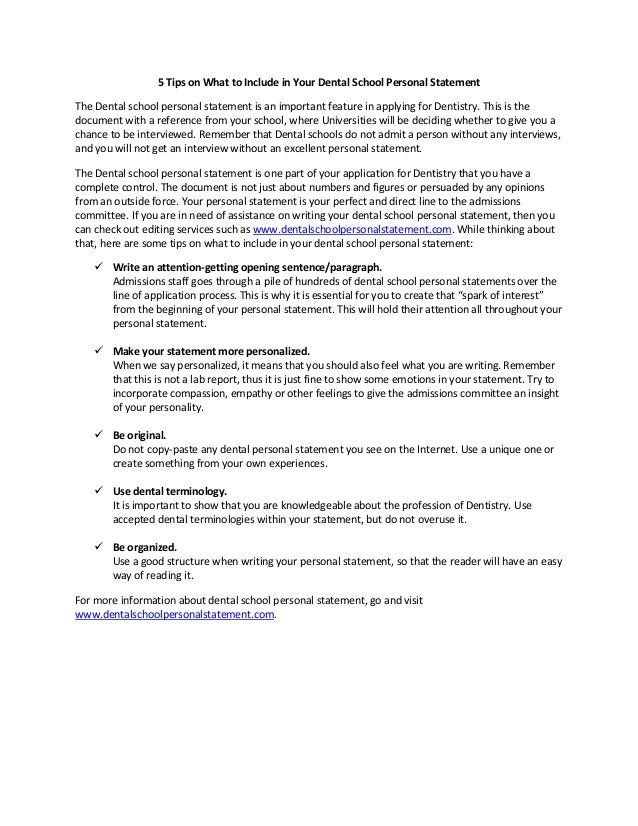 statement of activities for university application