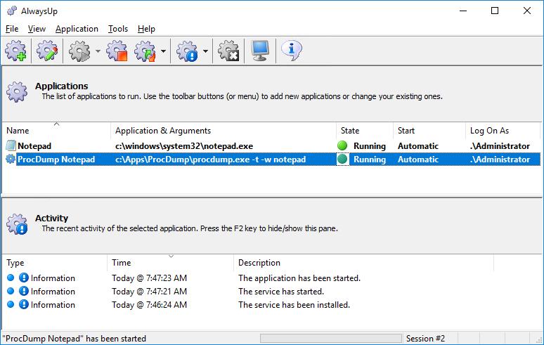 windows application crash dump location